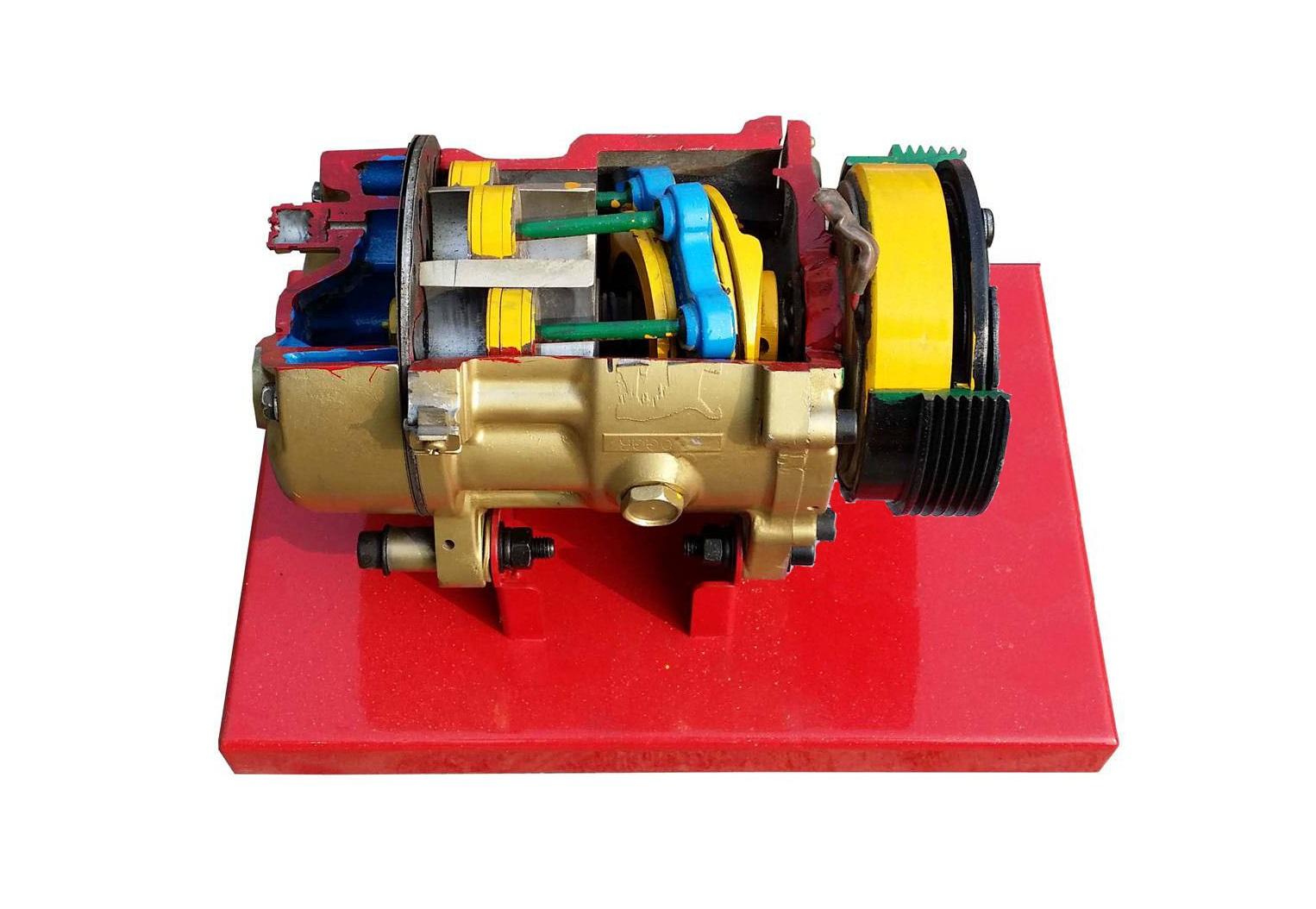 汽车空调压缩机解剖模型